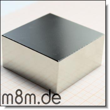 Magnetquader 60 x 60 x 30 mm, vernickelt