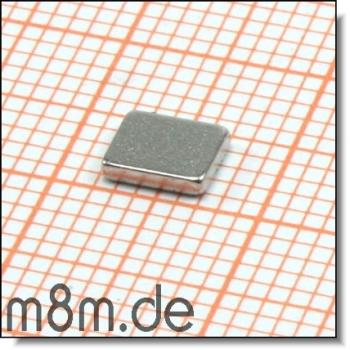 Magnetquader 05 x 4 x 1 mm, vernickelt